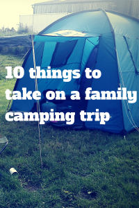 Ten things to take on a family camping